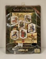 NEW Dimensions Gold Collection SANTAS & ANGELS Ornaments Cross Stitch Kit 8568