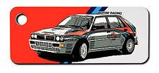 Personalised Lancia Delta HF Integrale Rally Car Keyring