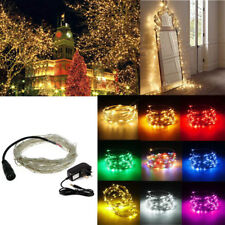Electric EU/UK Plug In Copper Micro Wire 5/10m LED String Fairy Light Xmas Party