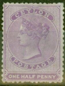 Ceylon 1864 1/2d Reddish Lilac SG48b Fine & Fresh Unused