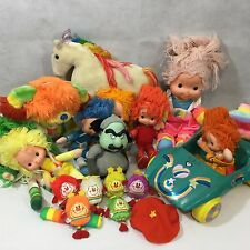 Rainbow Brite Lot Vintage 1983 Dolls Plush Kitty Brite Cycle Cottage Buddy 18 Pc