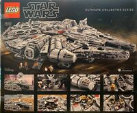 LEGO Star Wars ~ Force Friday Poster #3 ~ Millennium Falcon 75192 promo only