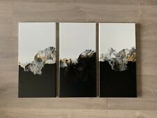 Original Abstract Acrylic Dutch Pour Painting On Three Canvases
