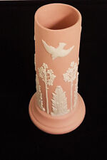 """ECanada Art Pottery Vase. Floral, Fern and Doves. Clear signature. A 10"""" Beauty."""