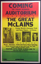 Original The Great McLains Window Card