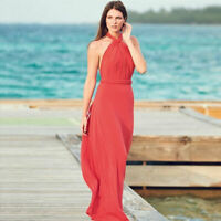 AVON Ladies Womens Halterneck Holiday Summer Maxi Dress Size 14 16 18 20 22 24