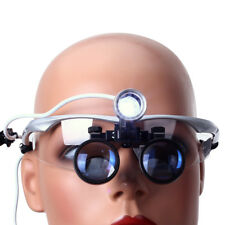 Dental Use Portable Magnifier Medical Binocular Loupes 3.5X+ LED Head Light Lamp
