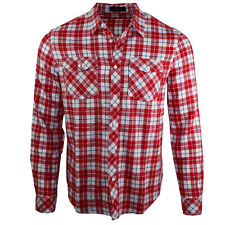 Men's D&H Long Sleeves Check Brush Cotton Spring Casual Shirt Tops
