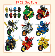 8pcs Ninjago Motorcycle Set Mini Figures Fits Lego Blocks Toys