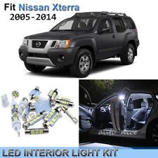 7x Xenon White LED Interior Lights Kit For 2005-2014 Nissan Xterra