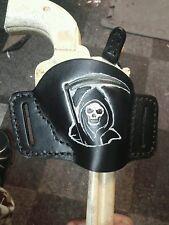 """THE REAPER"" Handmade Leather Minimal Holster for  Ruger Blackhawk"