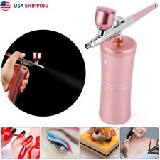 Mini Airbrush Set Small Paint Spray Pump Gun Pen Beautiful Air Compressor Kit US