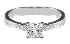 925 Solitaire Silver 2.50 Carat Princes Shape Anniversary & Engagement Ring
