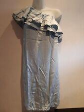 One Shoulder Denim Dress. Size 6. New Look