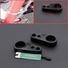 "1""/25mm Black Brake Clutch Alloy Cable Part Clamp Clip Bar For Harley Davidson"