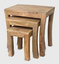 Solid Wood 3 Nested Tables