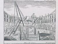 Place Vendome Paris 1792 Hôtel de Ville Rare Gravure Révolution Française