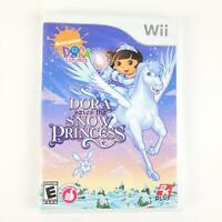 Dora the Explorer Saves the Snow Princess Nintendo Wii 2008 Nickelodeon Complete