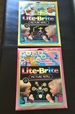 Lot Vintage Lite Brite 20 Pictures & 40 Guide Sheet Refill sheets