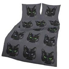 Bettwäsche Katze Cat Anthrazit 135x200 cm Bettbezug Baumwolle Renforcé