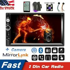7Inch 2Din Car Stereo Radio HD Bluetooth Mp5 Player Touch Screen Radio +CameraUS
