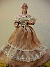 "Tree Topper/Bottle Topper, Ceramic Lady Figurine, 12"" Tall"