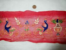 Vintage Antique Border Sari Trim Lace RARE OLD  2 ft Q1748 Figures #ABJ9S