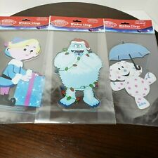 Rudolph The Red Nosed Reindeer Characters Gel Window Clings - Set of 3