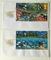 CK104) Cocos Keeling Island 2006 Coral Reefs FDC 2 Covers