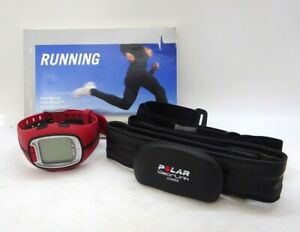 Red Polar RS200 Heart Rate Running Computer Monitor Watch with Coded Transmitter