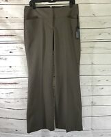 Express Women's Editor Pants Brown Flare Low Rise Career Size 8R NWT