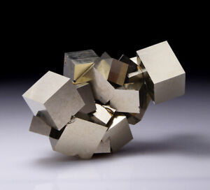 Pyrite crystals group from Navajun - Spain