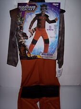 GUARDIANS OF THE GALAXY ROCKET RACCOON COSTUME KIDS SIZE SMALL 4-6  NEW !!!