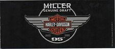 "Harley Davidson Miller Genuine Draft 95th Anniversary Vinyl Decal 3"" x 7""  !!!"