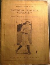 1927 Baltimore Baseball Federation Babe Ruth Cover Year Book w/ Advertisements