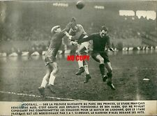 Photo de presse Football 1948 Parc des princes Stade français Alès Ben Barek