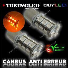 2 AMPOULE 18 LED ORANGE SMD CULOT R5W R10W 1156 BA15S SONAR 3 SANS ERREUR ODB