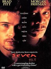 New listing Seven Dvd - 7 Se7en 1995 - Thriller Mystery Horror Brad Pitt