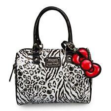 LOUNGEFLY Hello Kitty Black&White Leopard Embossed Mini City Bag(100%Brand New)
