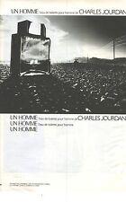 """PUBLICITE ADVERTISING 1980  CHARLES JOURDAN parfums eau de toilette  """" UN HOMME"""""""
