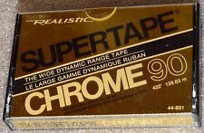 REALISTIC SUPERTAPE CHROME 90 SEALED BLANK AUDIO HIGH BIAS TAPE RADIO SHACK