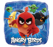 "ANGRY BIRDS Movie 17"" Foil Mylar BALLOON Birthday Party Supplies Decoration"