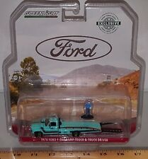 1/64 GREENLIGHT FORD 1970 FORD-350 RAMP TRUCK & TRUCK DRIVER CHASE CAR Q2