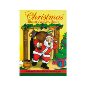 Small Christmas Activity Sticker Book  Xmas Eve Box