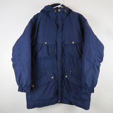 Woolrich Arctic Parka Coat Goose Down Jacket Navy Blue Hood Nylon Mens Sz Large