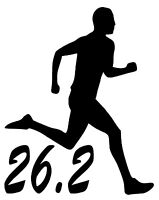 26.2 MARATHON RUNNER Vinyl Decal Sticker Car Window Wall Bumper Running Man 13.1