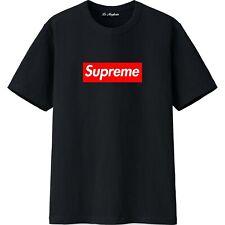maglietta tshirt supreme logo box uomo ragazzo bambino bianca o nera 100% cotone