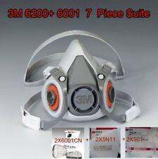 3M Spray Paint /Dust Mask respirator 6200 7 Piece SET 2x6001 Cartridge + filters