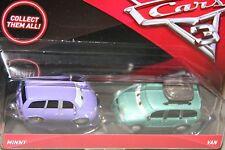 """DISNEY PIXAR CARS  """"2 PACK MINNY & VAN"""" NEW IN PACKAGE, SHIP WORLDWIDE"""