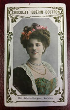 1900s French Trade Card French Comedian Actress Singer Arlette Dorgere